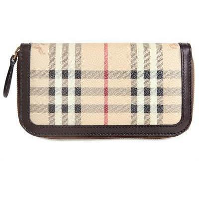 Burberry Ziggy Haymarket PVC Brieftasche
