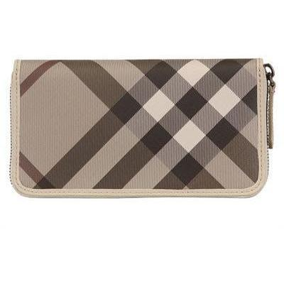Burberry Ziggy Smoked Check PVC Brieftasche