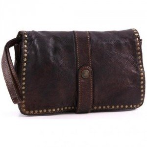 Campomaggi Lavata Clutch Leder dark brown 24,5 cm