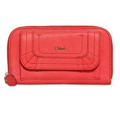 Chloe' Paraty Brieftasche aus Narbleder mit Langem Zip