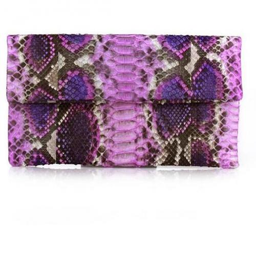 Civette Clutch Python Grande Pink Multicolor