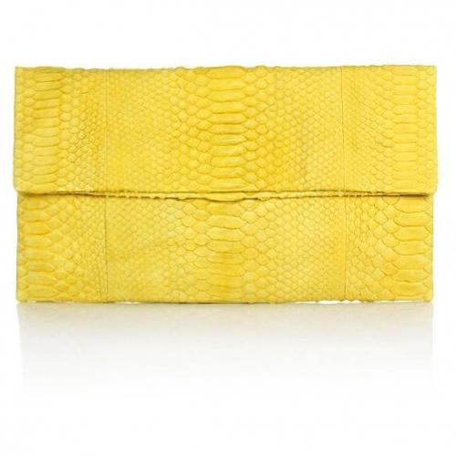 Civette Clutch Python Grande Yellow