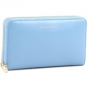 Coccinelle Lady Geldbörse hellblau 18 cm