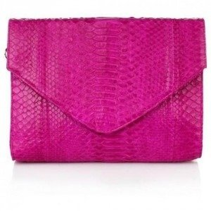 Desiree Lai Tulipe Python Clutch Pink