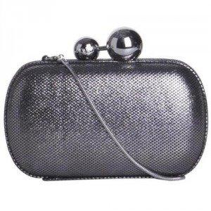 Diane von Furstenberg Box-Clutch Sphere Metallic Tweed