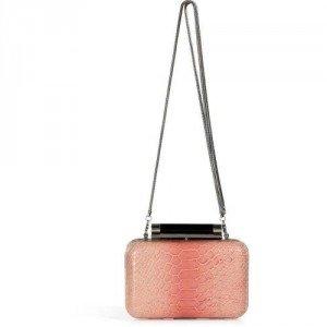 Diane von Furstenberg Pink Nectar/Multi Embossed Leather Tonda Clutch