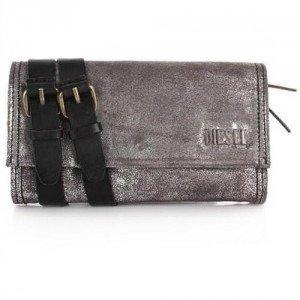 Diesel Techie Dancers Amazonite wallet silver black