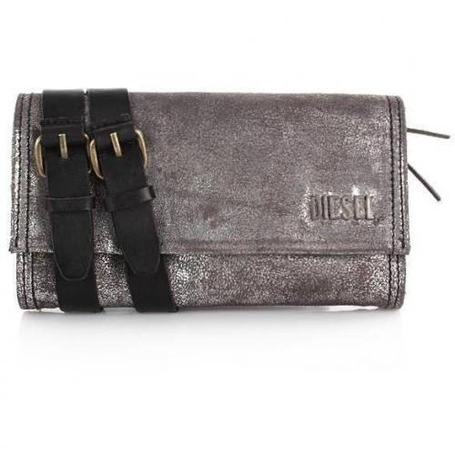 Diesel Techie Dancers Amazonite wallet silver black