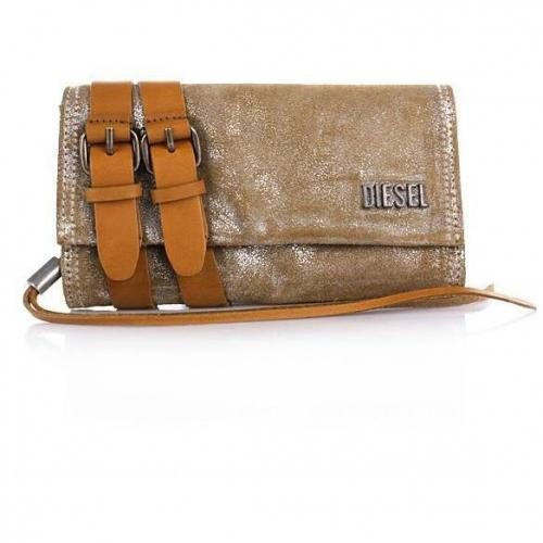 Diesel Techie Dancers Amazonite wallet silver brown