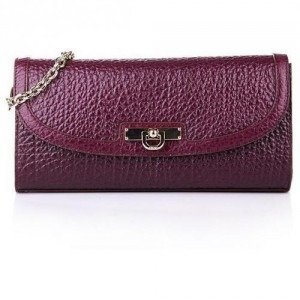 DKNY Clutch Leather Purple