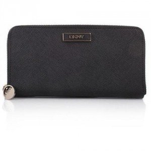 DKNY Saffiano Leather Portemonnaie Black