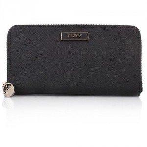 DKNY Saffiano Leather Portemonnaie Black