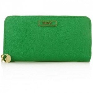 DKNY Saffiano Leather Portemonnaie Green