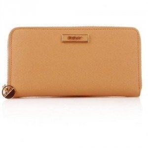 DKNY Saffiano Leather Portemonnaie Tan