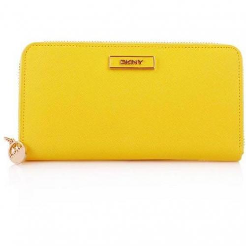 DKNY Saffiano Leather Portemonnaie Yellow