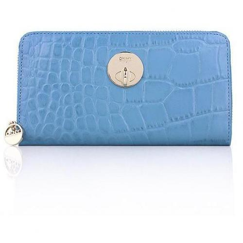 DKNY Wallet Croco Leather Blue