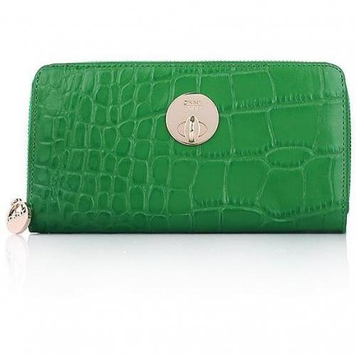 DKNY Wallet Croco Leather Green