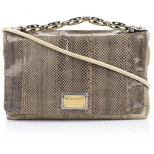 Dolce&Gabbana Bolso Con Catena Ayers Sabbia