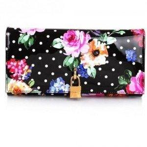 Dolce&Gabbana Portafoglio Continental Vernice S Rose