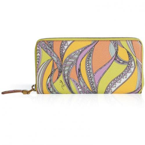 Emilio Pucci Lemon-Multi Zip Around Wallet