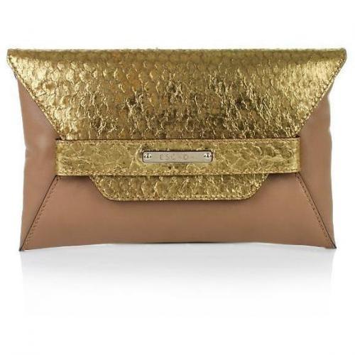 Escada Envelope Clutch Gold
