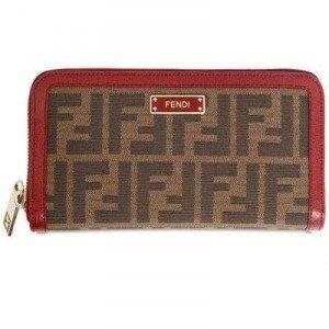 Fendi All Around Zip Zucca Weiche Brieftasche