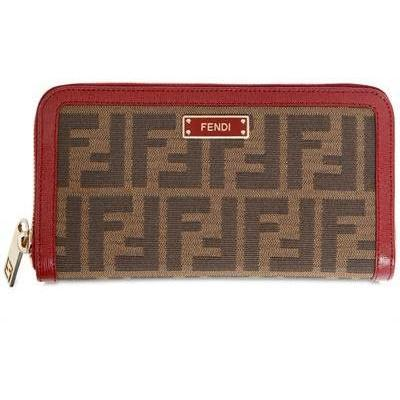 Fendi All Around Zip Zucca Weiche Brieftasche
