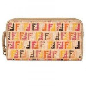 Fendi Logo Fendi Brieftasche aus PVC und Leder