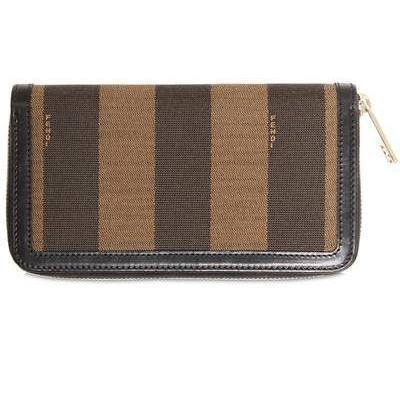 Fendi Pique All Araound Zip Brieftasche
