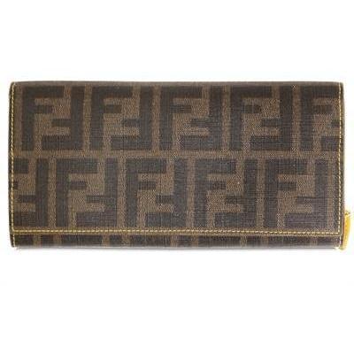 Fendi Zucca Piu' Kalbsleder Brieftasche