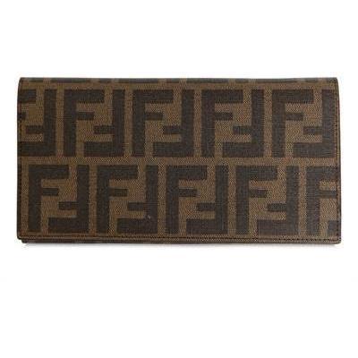 Fendi Zucca Piu' Kalbsleder Brieftasche dark brown Monogramm