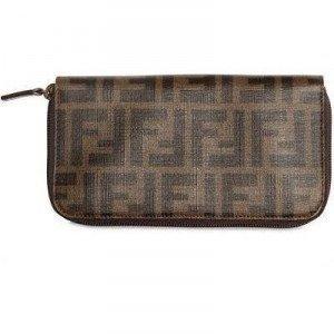 Fendi Zucca Zip Around Brieftasche