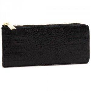 Furla Zip Around Geldbörse Damen Leder schwarz 19,5 cm