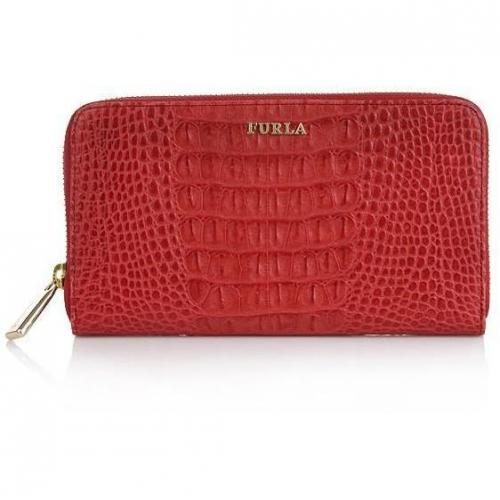 Furla Zip Around XL P. Foglio Lipstick