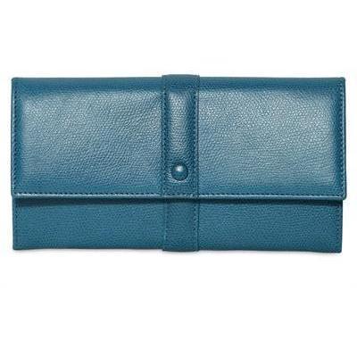 Giorgio Armani Lange Klappenbrieftasche aus Vollnarbenleder