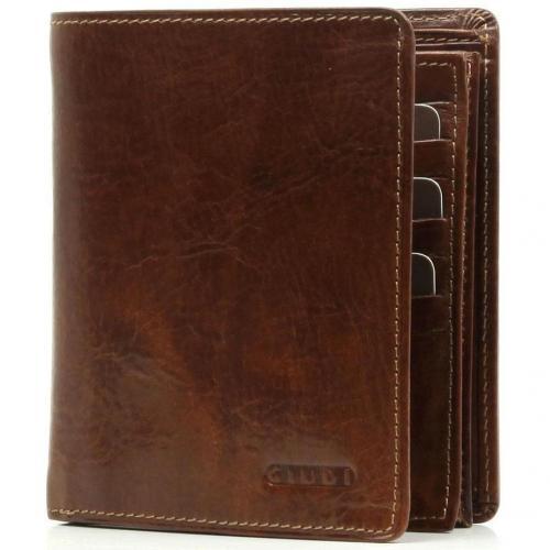 Giudi Portemonnaie Leder braun 12,5 cm