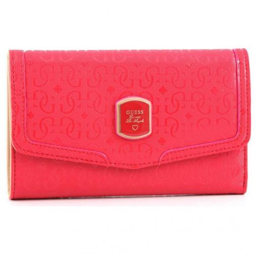 Guess Frosted Geldbörse Damen pink 19 cm