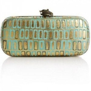 House of Harlow Addison Gold Tile Turquoise