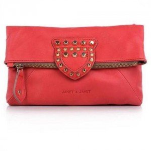 Janet&Janet Clutch Borsa Isabel Rosso/Rosso