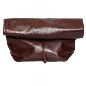 Jil Sander Nuzzi Lunch Bag Clutch aus Nappaleder