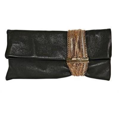 Jimmy Choo Chandra Schimmernde Clutch aus Wildleder