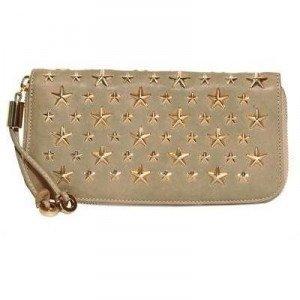 Jimmy Choo Filipa Brieftasche aus Leder mit Sternen