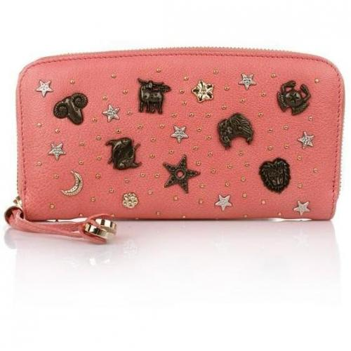 Jimmy Choo Filipa Wallet Coral