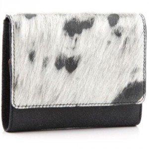 Jost Die Kuh Elsa Geldbörse Leder grau 12,5 cm