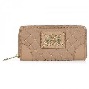 Juicy Couture Rich Camel Quilted Nylon Zip Wallet