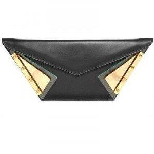 Kzeniya Wild Lederclutch black gold