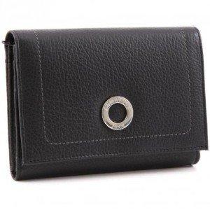 Lamarthe Paris PM Geldbörse Damen schwarz 14,7 cm