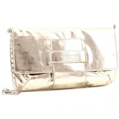 Lamarthe Purse Party Clutch Leder gold 26 cm