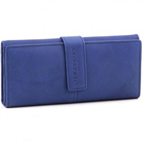 Liebeskind Pull Up Leather Leonie Geldbörse Damen Leder blau 19,5 cm