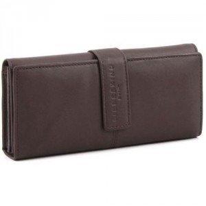 Liebeskind Pull Up Leather Leonie Geldbörse Damen Leder dunkelbraun 19,5 cm